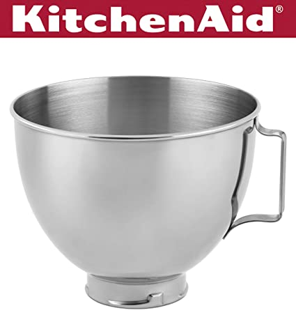 Amazon.com: KitchenAid K45SBWH 4 – 5-qt. Tazón de acero ...