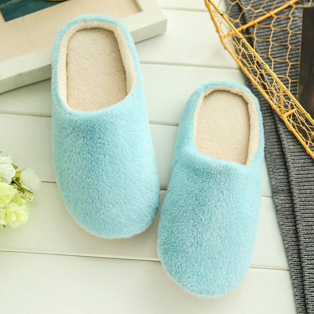 YIHANK Fashion Autumn and Winter Indoor Slippers Women Warm Home Plush Soft Slippers Indoors/Anti-Slip Winter Floor Bedroom Shoes