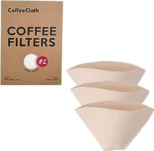 Earthtopia Paquete de 3 Filtros para Café de Tela Reutilizables ...