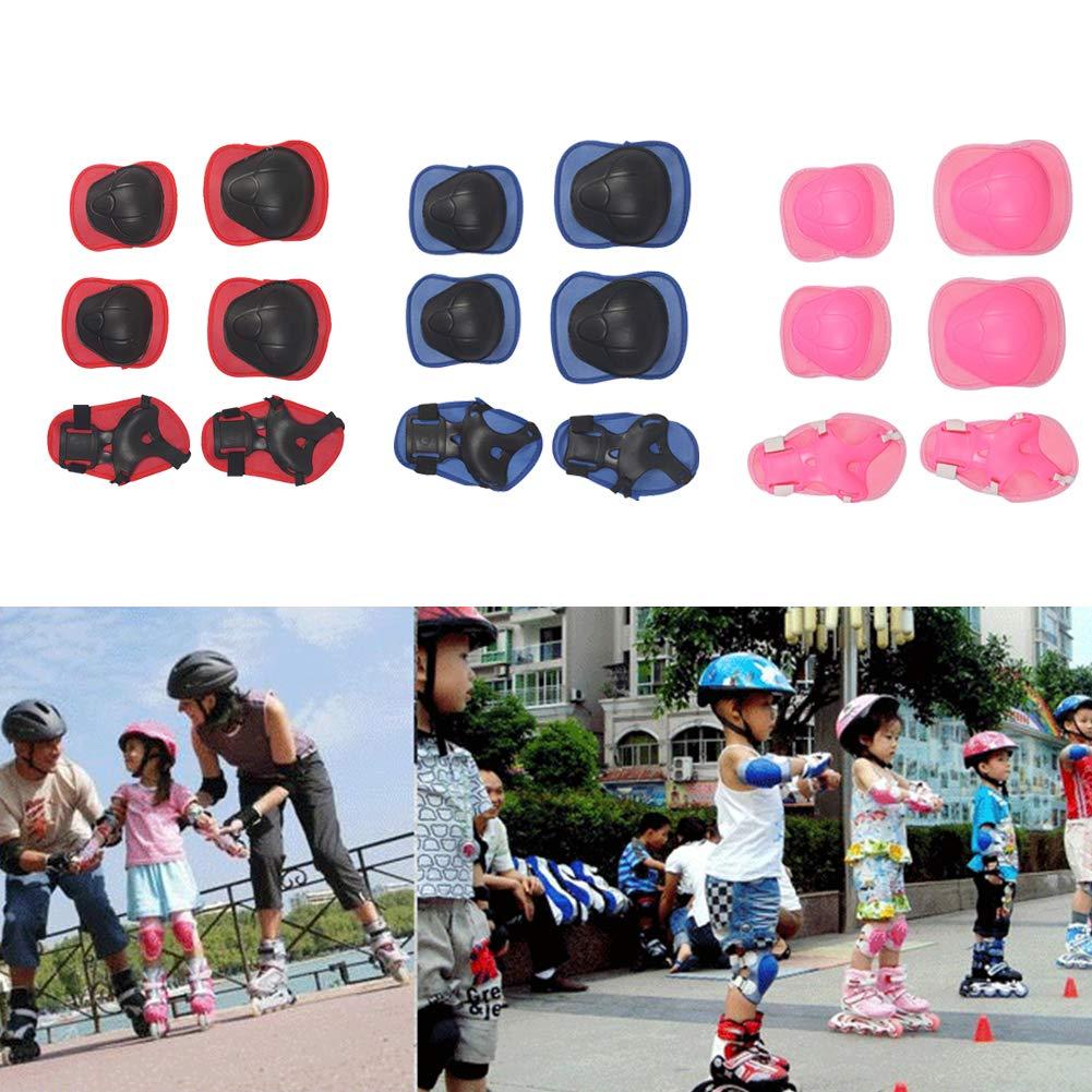 Geshig-6 St/ück Outdoor Kinder Skateboard Knieschoner Ellenbogen Handgelenk Handst/ütze Schutzset