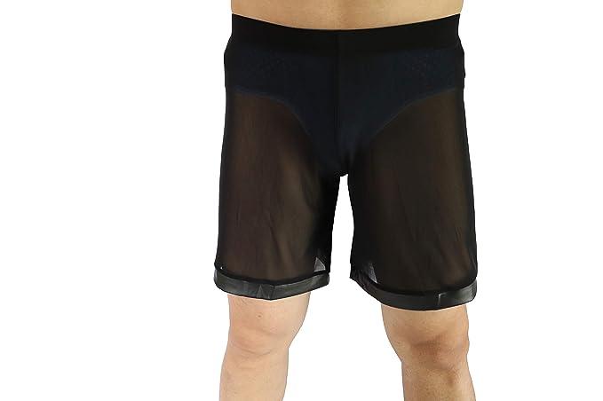Amazon.com: Hinlot - Pantalones cortos de dormir de malla ...