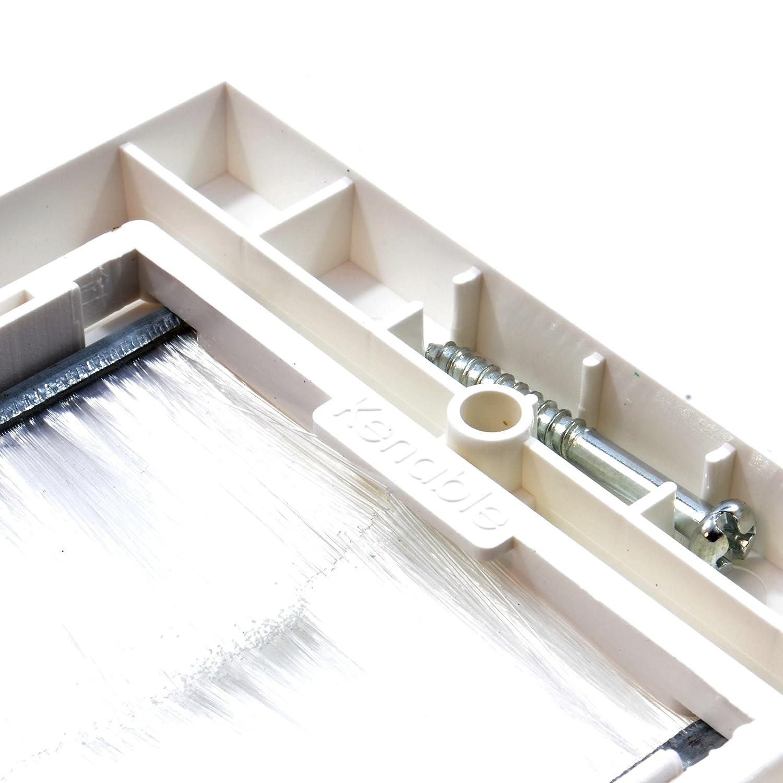 Schwarz Pinsel Unterputzdose F/ür Kabel Austritt Wand Ausgang UK Zweifach Fach Wei/ß