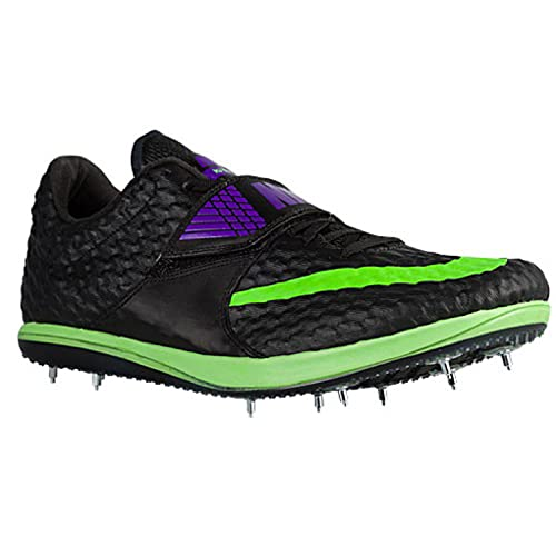 4228cebaf4b6a new Nike HJ Elite High Jump Spikes Shoes Black Poison Green Size 6 Mens Womens  7  Amazon.ca  Shoes   Handbags