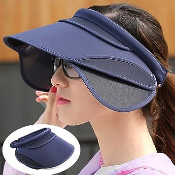 Sombrero de la Pesca Visera de Ciclo Deportes Sombrero para el Sol Femenina Superior  vacío Que 55ba666fba3