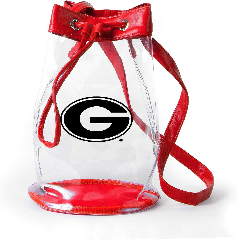 Georgia Bulldogs Clear Bucket Bag//Purse