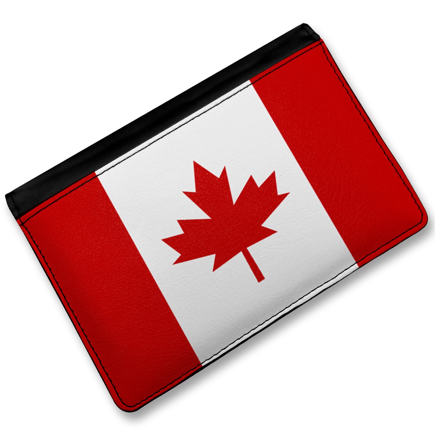 amazon com rfid passport holder canada flag cover case wallet
