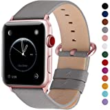 Fullmosa Compatible Apple Watch Band 42mm 44mm 40mm 38mm Leather Compatible iWatch Band/Strap Compatible Apple Watch…