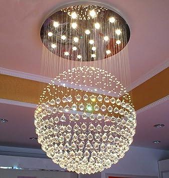 Amazon.com: Modern Ball Crystal Lighting Flush Mount LED Ceiling ...