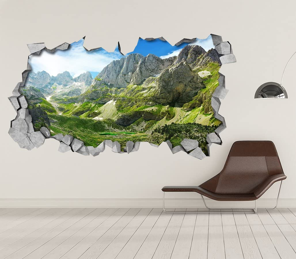 Papel Pintado Efecto 3D 87 x 48 cm, Vinilo Adhesivo Londres 3D Decoraci/ón Pared