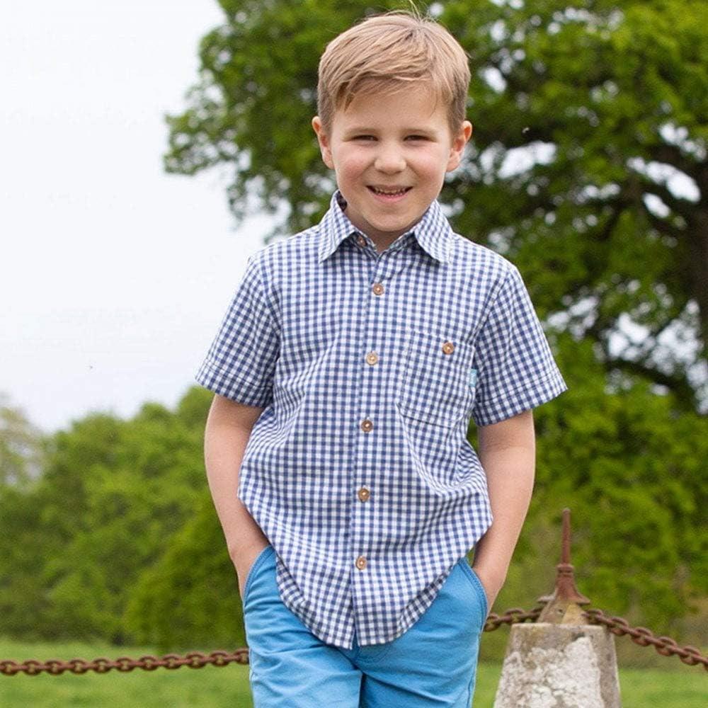 Kite Boys Gingham Shirt 3-11 Years Organic