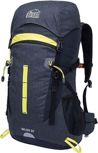 Aveler 50L Unisex Lightweight Internal Frame Backpack High-Performance Backpack with Rain Cover for Travel, Hiking, Camping
