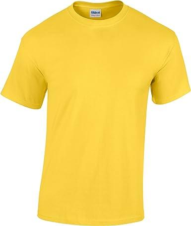 Gildan - Camiseta básica de manga corta Unisex con algodón grueso ...