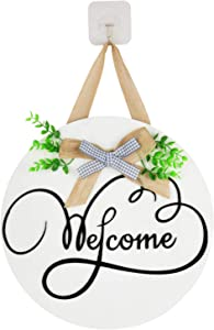 Fall Welcome Signs for Front Door Decor,Wooden Outdoor Welcome Signs for Porch Decor,Farmhouse Wreaths Welcome Home Signs,Front Porch Decor,Fall Door Hangers,Door Decorations Hanging Outdoor