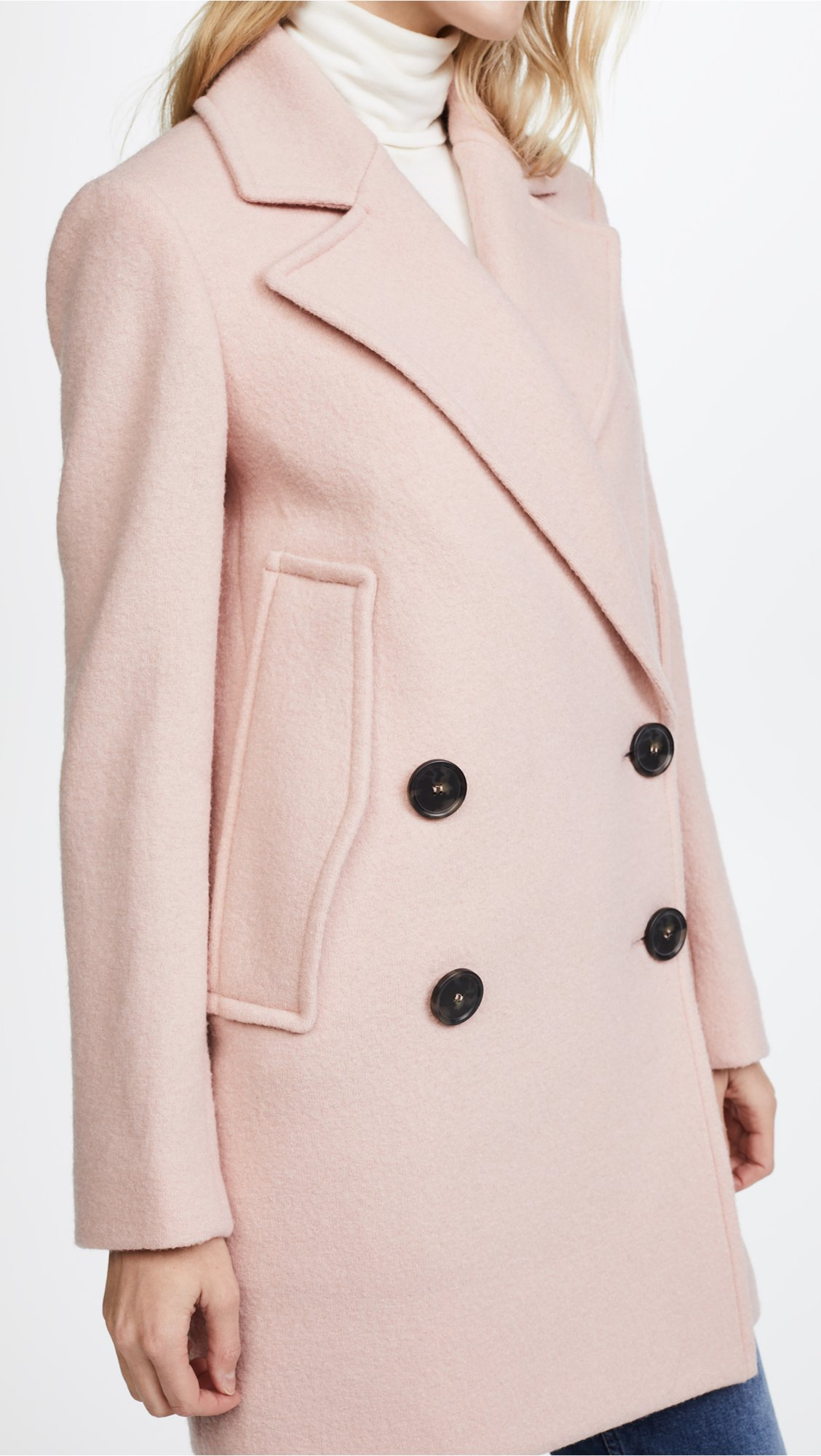 Theory Women's Cape Coat, Chalk Pink, S by Theory (Image #6)