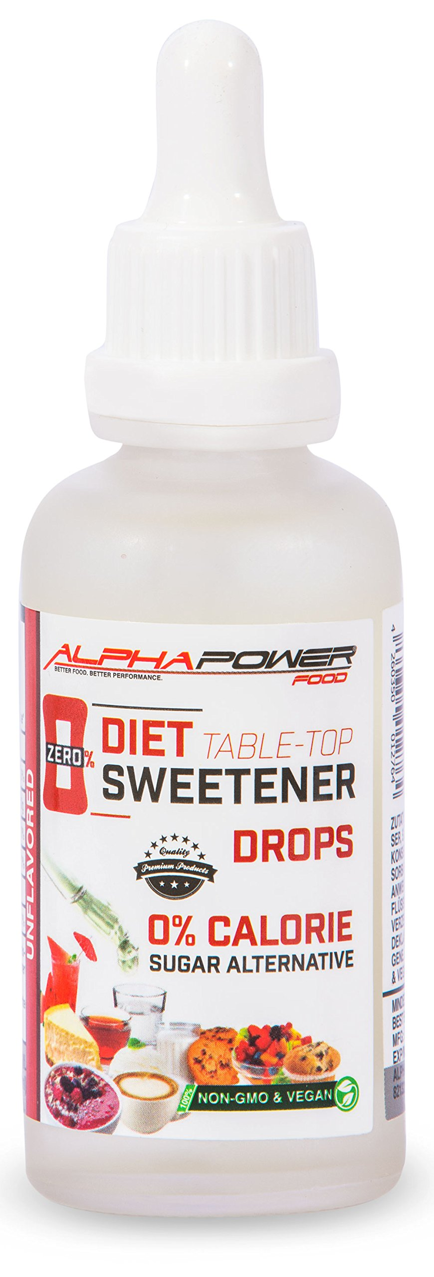 ALPHAPOWER FOOD Calorie Free Sucralose Sweetener I Diet Sugar Free Substitute 50ml Pure, Sugar Replacement & Alternative