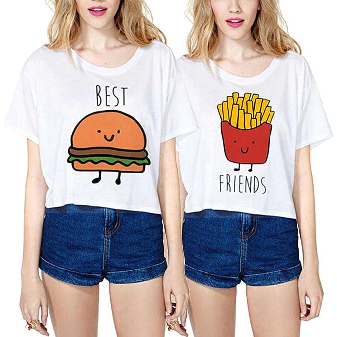 Mejores Amigas Camiseta Best Friends Shirts 100 Algodón 2 Piezas
