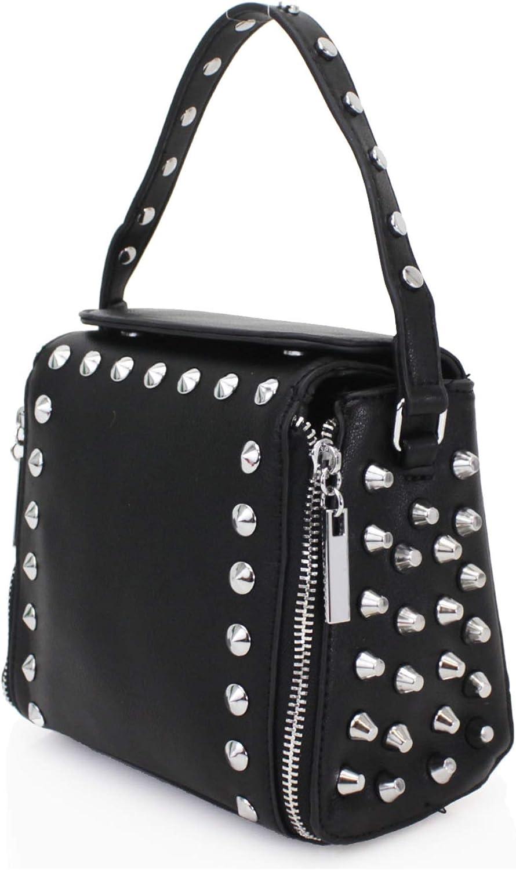 Ladies Studded Bag Women Purse Tote Shoulder Fashion Crossbody Grab Handbag 1016