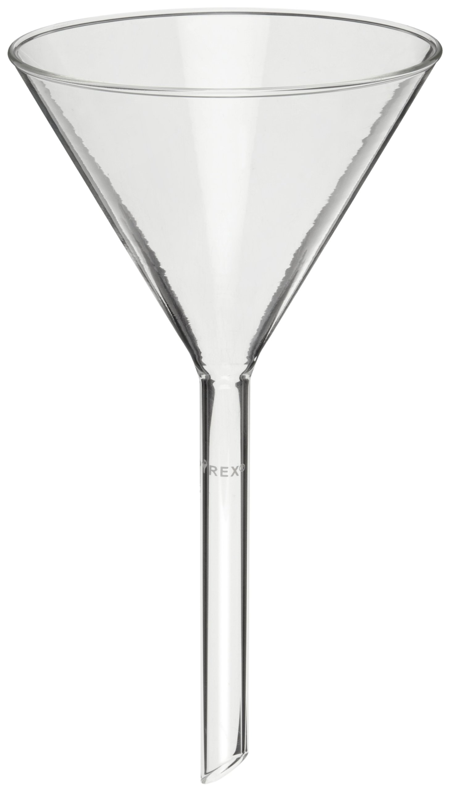 Corning Pyrex 6100-6 Borosilicate Glass Plain Funnel, with Long Wide Stem, 147mm Diameter (Pack of 6) by Corning