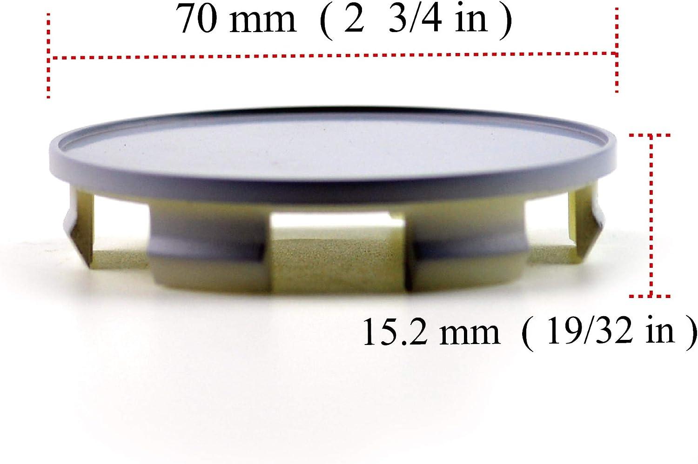 Rhinotuning 4 x 70 mm ABS-Material Schwarz Rad Nabenkappen Nabendeckel f/ür #44732-SXO-JO10 Element 2003-2011 Odyssey 2005-2017