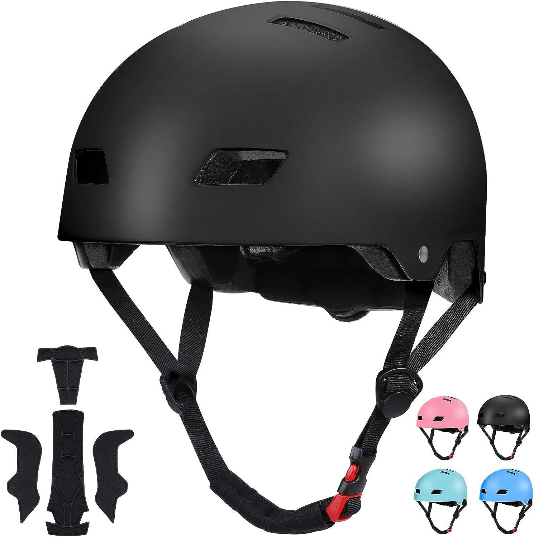 Neutral Sposuit Skateboard Bike Helmet for Kid Toddler Youth Adjustable Helmet with Soft Chin Cushion for Skateboarding Cycling Scooter Roller Skate Skating BMX Rollerblading Meet CPSC Standard