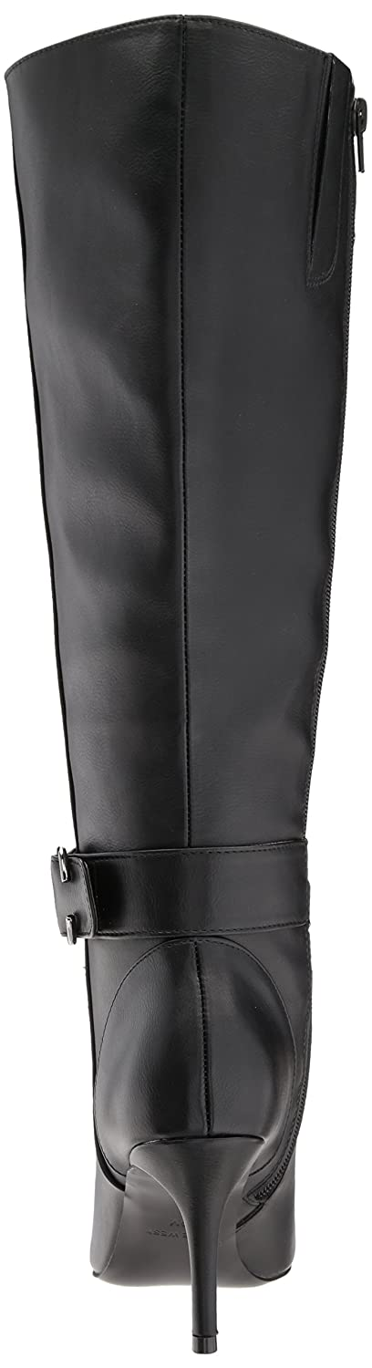Nine West Women's Moretalknw Synthetic Knee High Boot B071HQGQV6 6 B(M) US Black Wide Synthetic