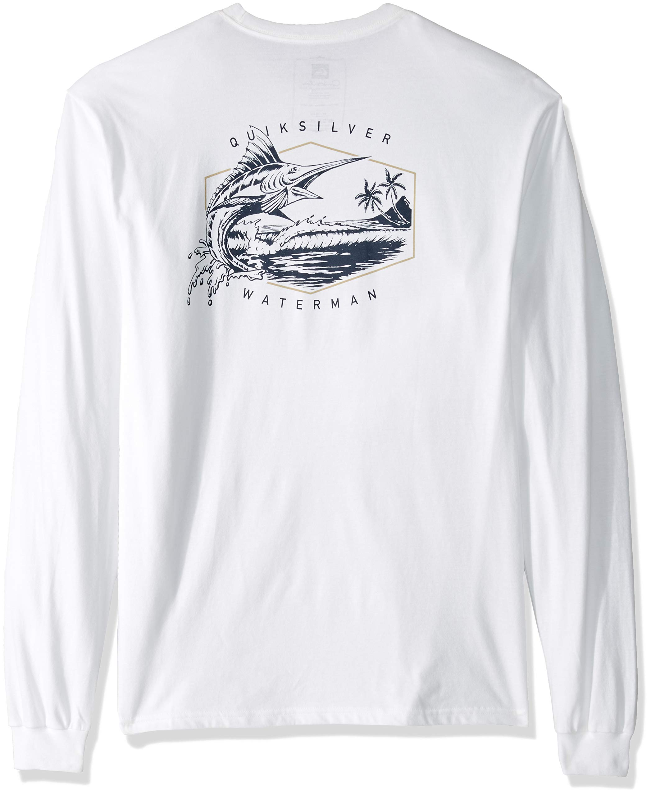 Quiksilver Men's Jumper Long Sleeve TEE Shirt, White, L by Quiksilver (Image #2)
