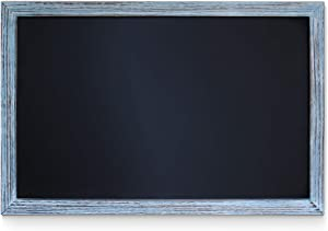 """HBCY Creations Rustic Blue Magnetic Wall Chalkboard, Small Size 11"""" x 17"""", Framed Decorative Chalkboard - Great for Kitchen Decor, Weddings, Restaurant Menus and More!.(11"""" x 17"""")…"""