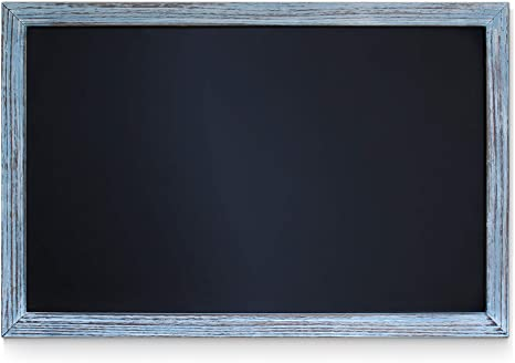 Amazon Com Hbcy Creations Rustic Blue Magnetic Wall Chalkboard Small Size 11 X 17 Framed Decorative Chalkboard Great For Kitchen Decor Weddings Restaurant Menus And More 11 X 17 Home Kitchen