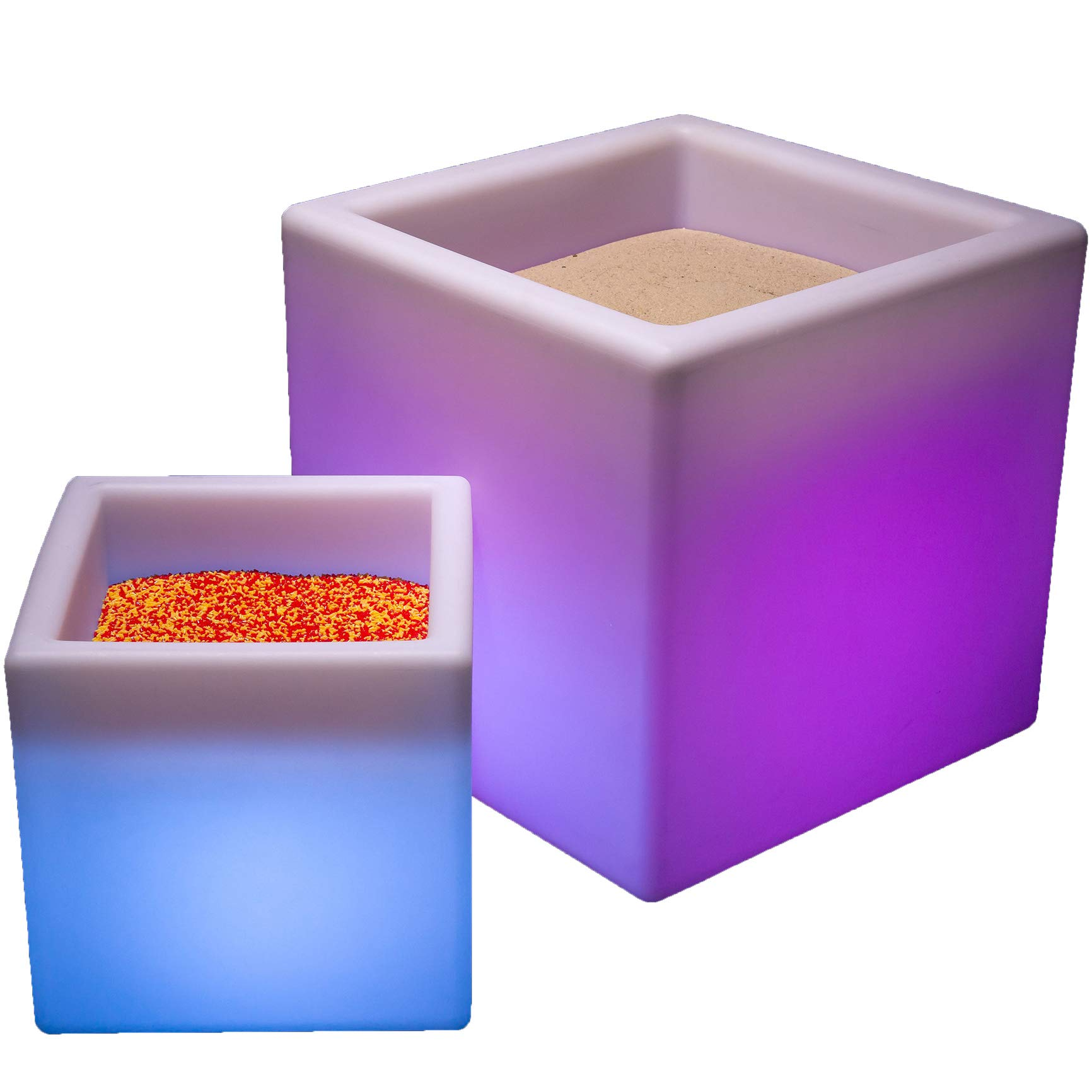 Fun and Function LimeLite Mini LED Sand Table - Plastic Table Features a Soft LED Glow with 16 Color Options for Ages 4 & Up - 12 inch