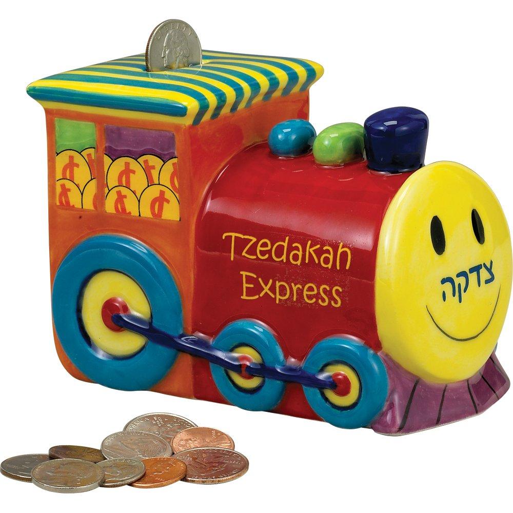 Rite Lite LTD 6x4 Color Ceramic Train TZEDAKAH Box TBRM-4