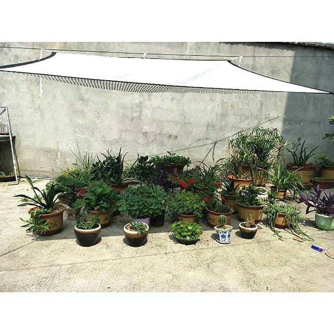 F/ür Garten Patio,Silver,1Mx1m Wgwioo Reflektierender Aluminet Schatten Stoff Abdeckung Reflektierendes Aluminet Schatten Segel//Verkleidung