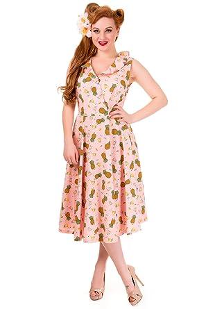 b2804971514 Banned This Love Sleeveless Vintage 1950s Pin up Dress - UK 14 US 10 EU 40   Amazon.co.uk  Clothing
