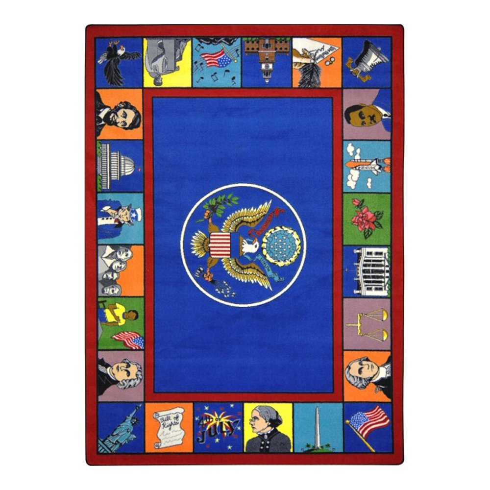 Joy Carpets Kid Essentials Early Childhood Symbols of America Rug, Multicolored, 5'4'' x 7'8'' by Joy Carpets