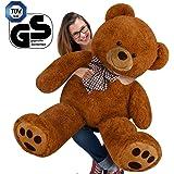 "Teddy Bear L-XXXL Size Colour Choice 160cm/ 1.60m/ 5ft 3""/ 63Inches Kids Soft Plush Teddies Brown Big Large Giant Child Christmas Gift Toys Dolls"