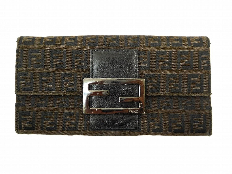 [フェンディ] FENDI 長財布 ズッキーノ キャンバス×レザー X14536 中古 B06XPR43F9