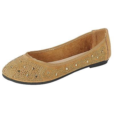 Cambridge Select Women's Slip-On Round Toe Glitter Crystal Rhinestone Ballet Flat | Shoes