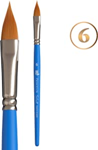 Princeton Select Artiste, Series 3750, Paint Brush for Acrylic, Watercolor and Oil, Pointed Filbert, 6