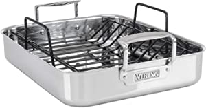 Viking-Culinary-3-Ply-Stainless-Steel-Roasting-Pan-with-Nonstick-Rack