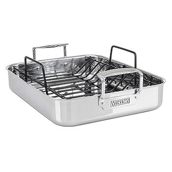 Viking Culinary 3-Ply Silver Roasting Pan