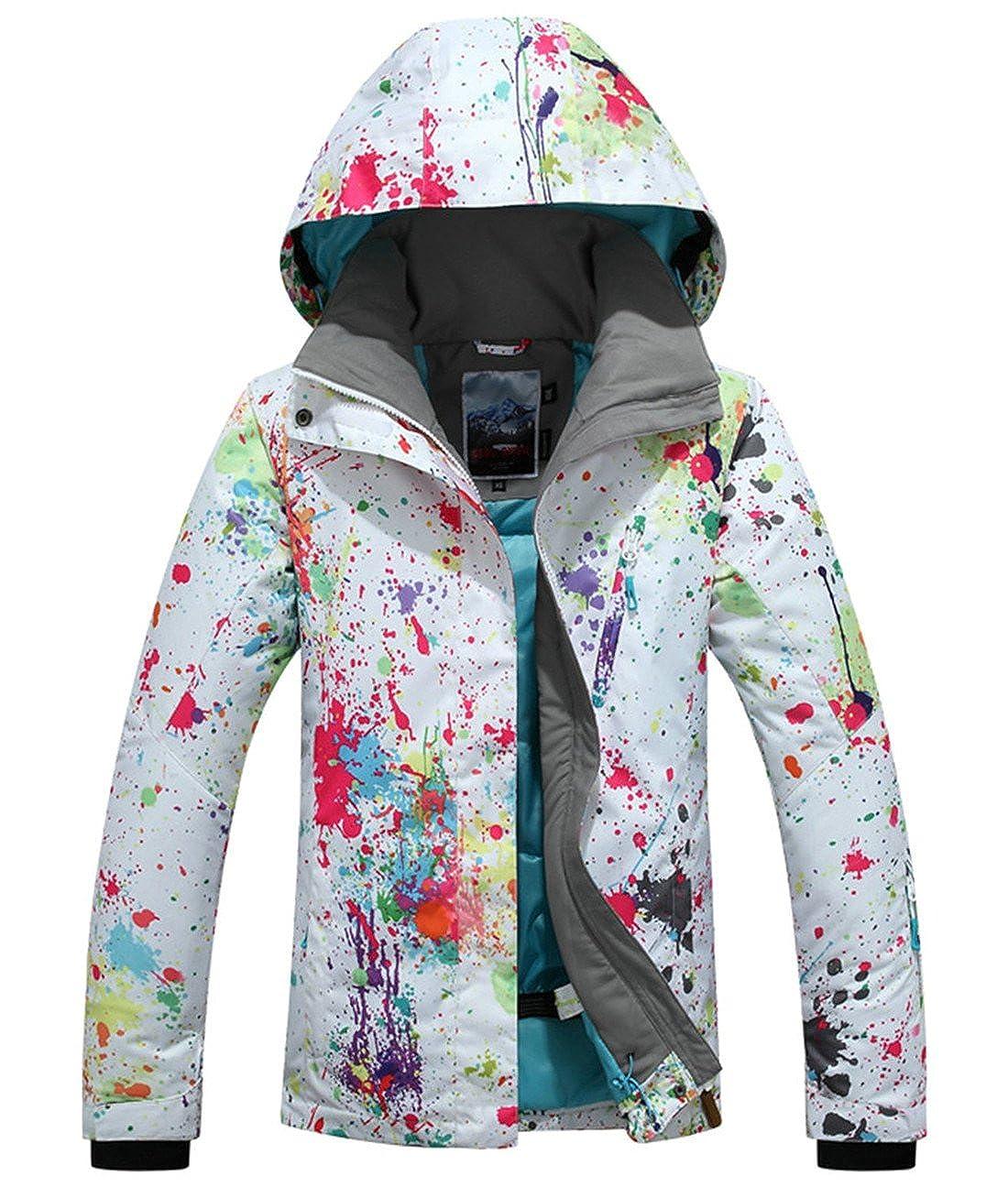 APTRO レディース スキージャケット スキーウェア 高い防風性 カラフルなプリント B01N2TU6VM Small|Style #896 Style #896 Small