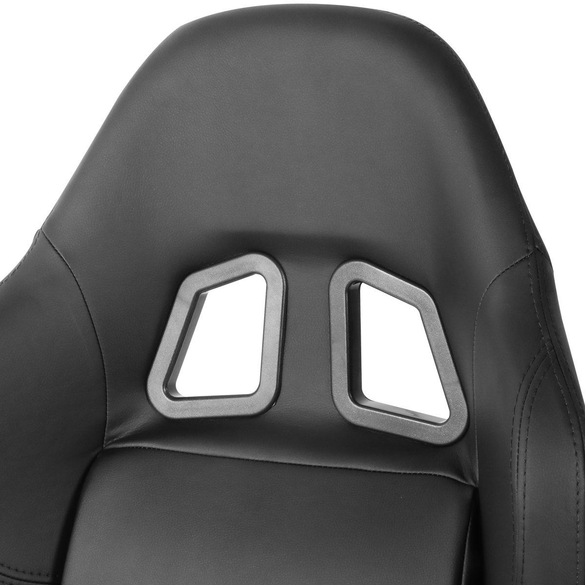 Adjustable Sliders DNA Motoring RS-XL-06-BK Racing Seats