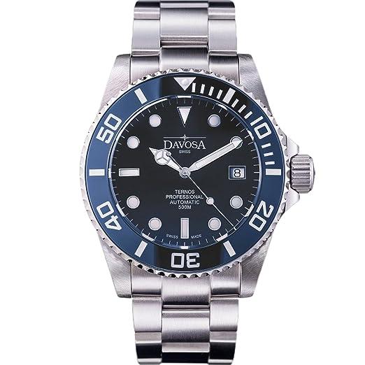 Davosa Ternos Professional - Reloj de pulsera suizo automático para hombre: Amazon.es: Relojes