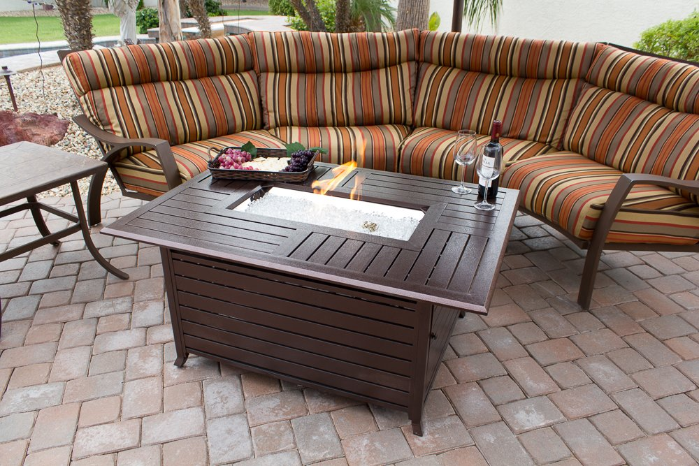 Amazon.com : AZ Patio Heaters Fire Pit, Extruded Aluminum Rectangular :  Patio, Lawn U0026 Garden