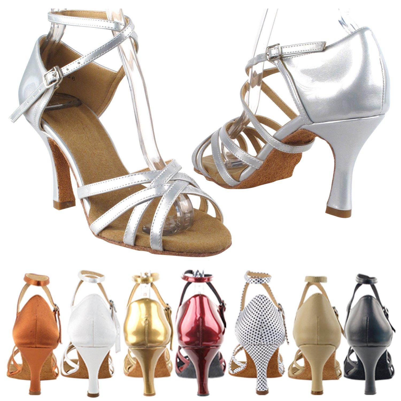 50 Shades SERA1606 Dance Dress Shoes:Pearl Gold, 2.5'' Heel, Size 7