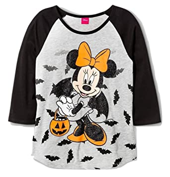 disney minnie mouse girls halloween t shirt x large 14 16