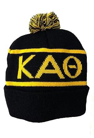 Amazon.com  Greekgear Kappa Alpha Theta Beanie Ski Cap Black  Clothing 8500c5b531c