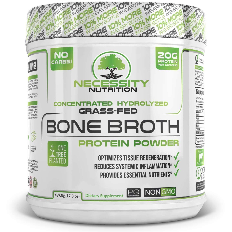 Beef Bone Broth Collagen Protein Powder Natural Pure Paleo Keto Friendly Gluten Free