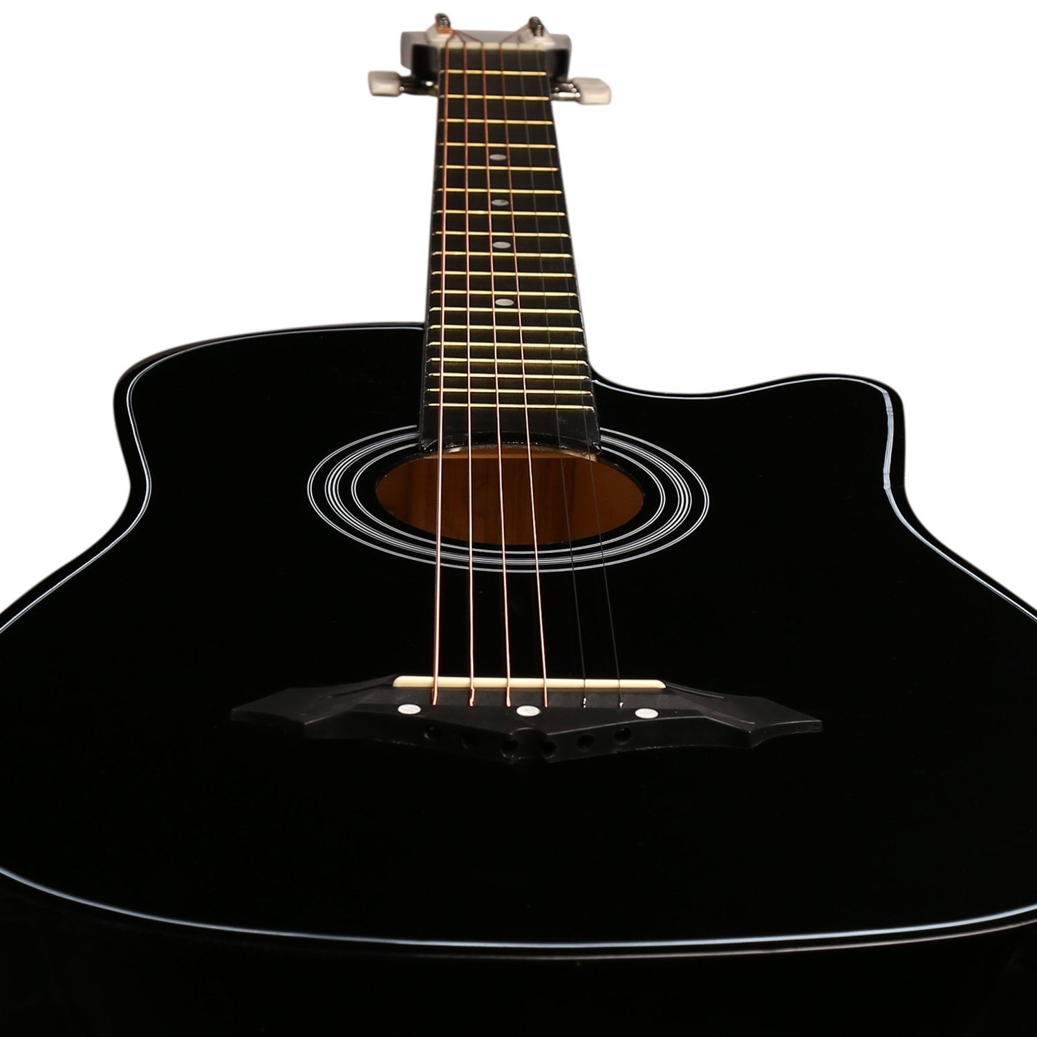 juarez acoustic guitar 38 inch cutaway 038c with bag strings