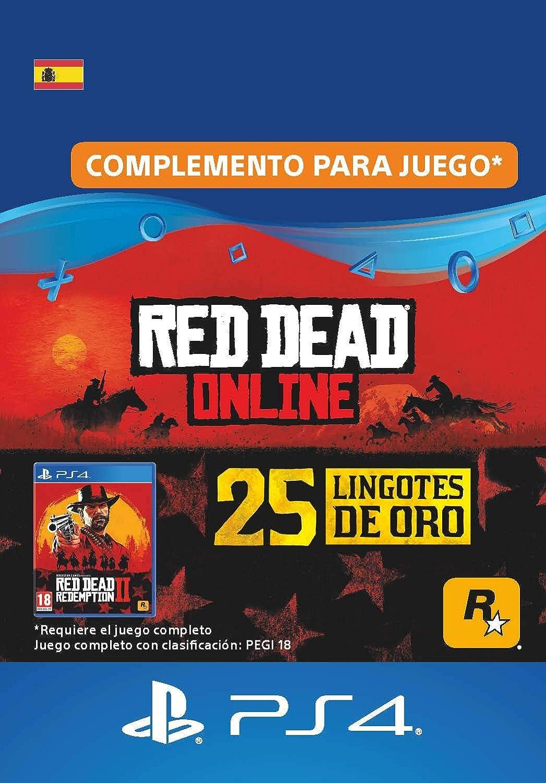 25 lingotes de oro en Red Dead Online - 25 lingotes de oro DLC | Código de descarga de PS4 - Cuenta ES