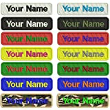 Custom Embroidery Name Patches ,2 pieces Personalized Military Number Tag  Customized Logo ID For Multiple